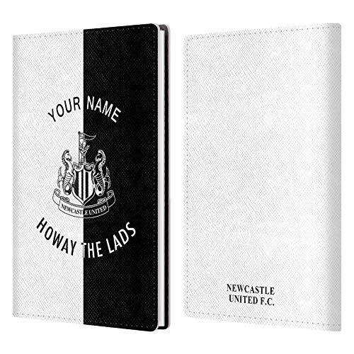 Custom Customized Personalized Newcastle United FC NUFC Howay The Lads 2017/18 White Gray Leather Passport Holder