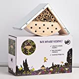 #3: Garden Bee House Outdoor Garden Decor for Solitary Bees, Insect Hotel for Bee Lovers, Perfect Gift Idea for Bee Keepers