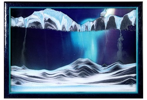 Rainbow Vision Sand Picture By Klaus Bosch -- Small size ''Aurora Borealis'' by Rainbow Vision Sand Pictures