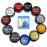 Chalk Mountain Brushes & Waxes ULTIMATE Furniture Finishing Wax Kit - SAFE TO USE INDOORS. (11 Pack)