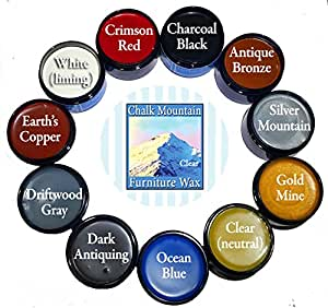 Chalk Mountain Brushes 11 Pack Wax Kit 100% All Natural Furniture Finishing Waxes. Safe to use Indoors. Beautifys and Protects Painted and Unfinished Wood. Made in USA.