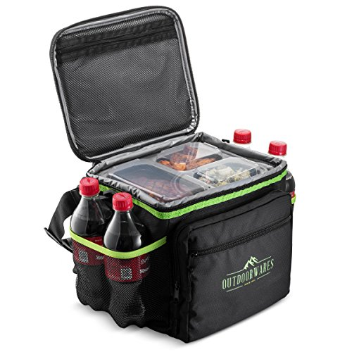 Cooler Bag By Outdoorwares: Large Capacity Bag–Durable Insulated Tote To Keep Foods And Drinks In The Right Temperature–Good for Travel, Picnic, Beach Hiking, Camping ()