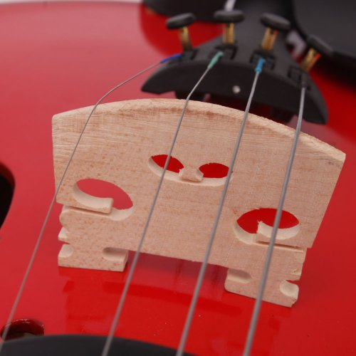 Lovinland 4/4 Acoustic Violin Red Beginner Violin Full Size with Case Bow Rosin by Lovinland (Image #5)