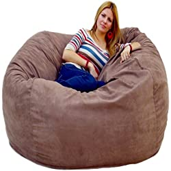 Cozy Sack 5 Foot Large Bean Bag Chair, Earth