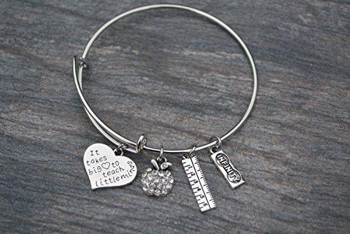 0db2cd09a4238 Infinity Collection Teacher Bangle Bracelet- Teacher Jewelry, Teacher Gift,  Show Your Teacher Appreciation Thank You Gifts for Teachers