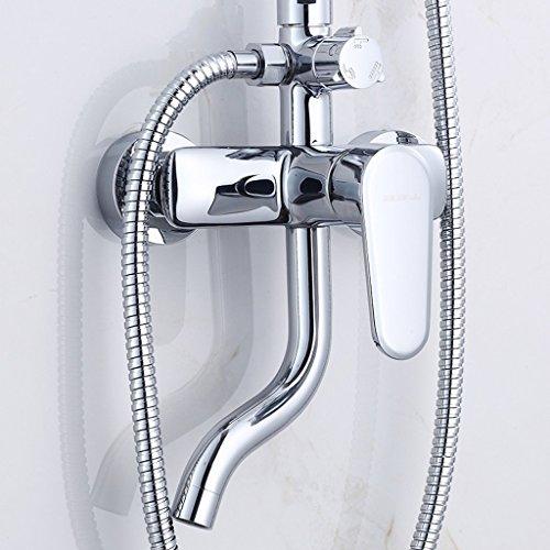 MOMO Dusche Set Kupfer Dusche Bad Warm und Kalt Wasserhahn Bad Große Dusche Set Kupfer Booster Dusche Wasserhahn by MOMO (Image #3)
