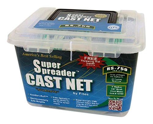 FITEC 10180 8 ft. RS750 Super Spreader Cast Net 0.38 in. Mesh, Clear, 0.75 lbs.   B003ZZ9C3S