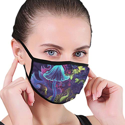 Anti-Allergies Dust Face Mask, Earloop Half Face Mask for Women Men, Outdoor Activities Cosplay Face and Nose Cover with Elastic Band