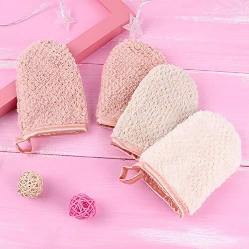 Face Glove - 1pc Reusable Microfiber Cleansing Glove Facial Cloth Magic Face Towel Makeup-remover Cleansing Glove Random Color