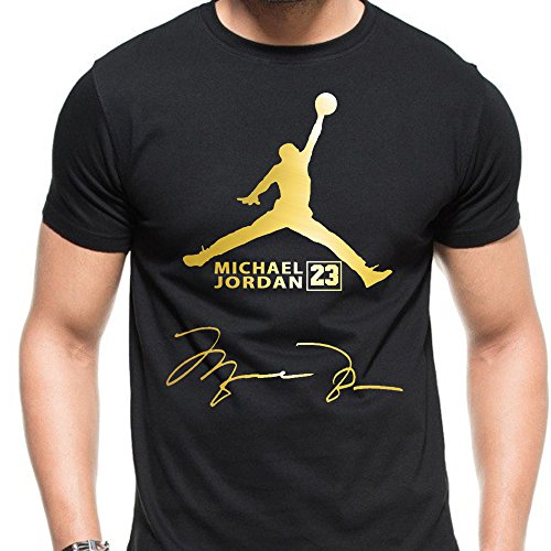 air jordan logo gold shirt product image