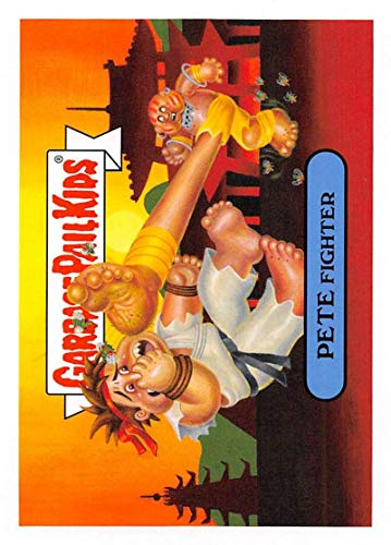 2019 Topps Garbage Pail Kids We Hate the '90s Video Games Sticker #3a PETE FIGHTER Sticker Trading Card