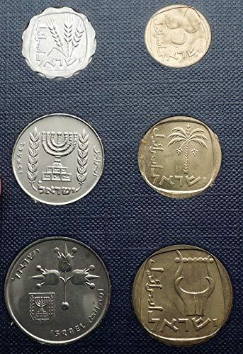 (IL 1971 1971 ISRAEL - Jerusalem Specimen 6 Coins Set Coll)