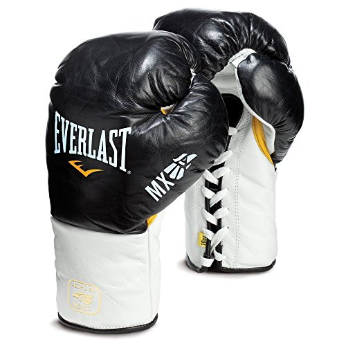 Everlast MX Lace Professional Boxing glove (Black, 8oz)
