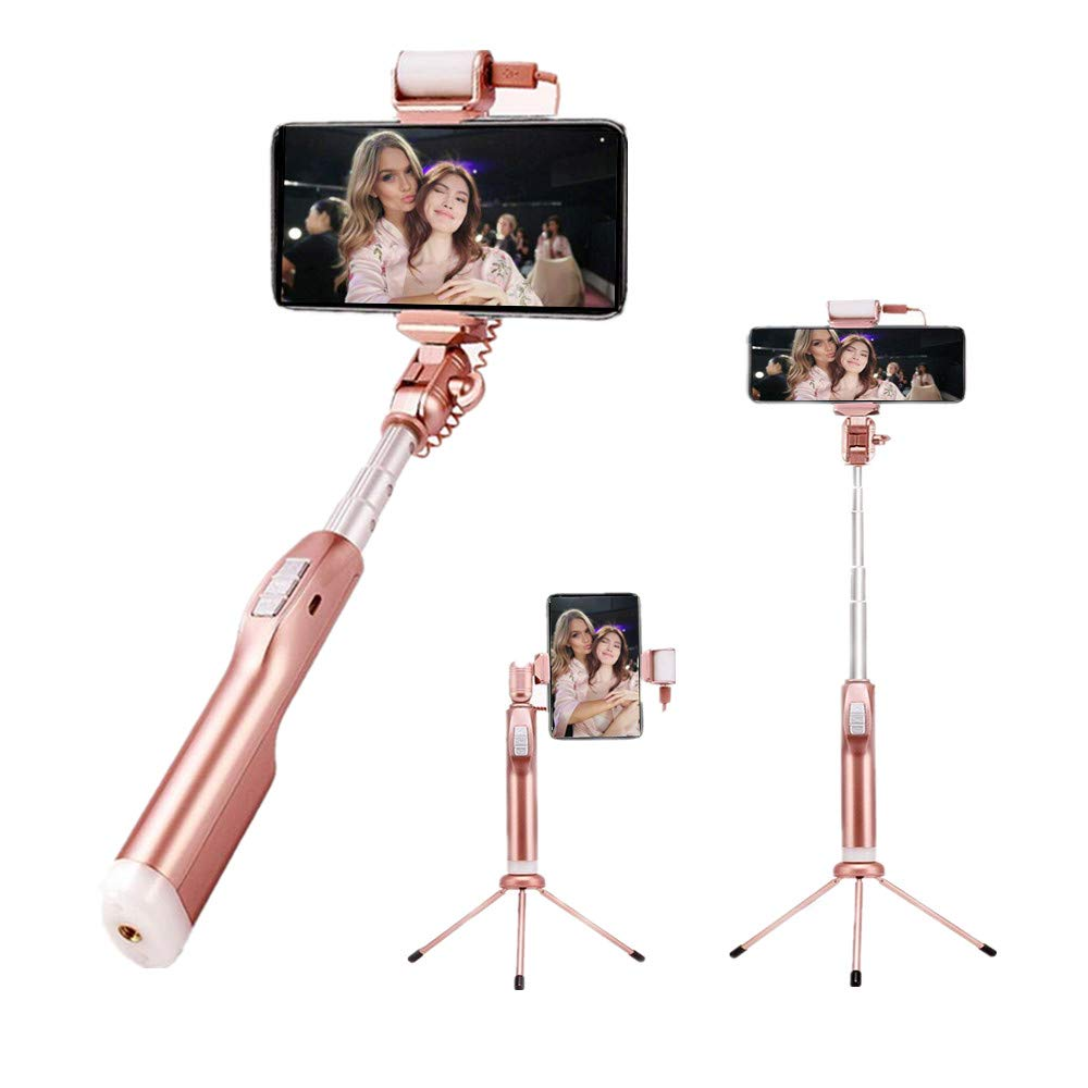 Selfie Stick Tripod With Remote,WomToy Selfie Stick Wireless One-touch Connection For iPhone 7 Plus 7 6s Samsung Galaxy S6 S5,Gopros,DSLR,Cameras, Wireless Remote Control Support 360° All-Round Rotation Holding Devices for iOS and Android System Phones
