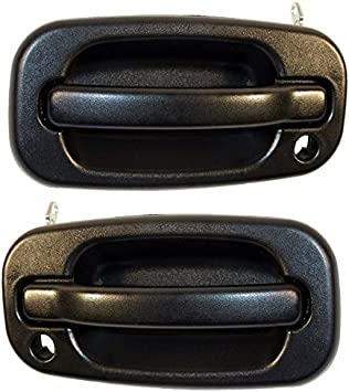 Pair For 99-07 GMC Chevy Outside Outer Exterior Door Handle Rear Left+Rear Right