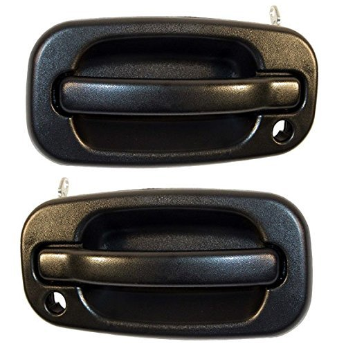 Escalade Avalanche Silverado Suburban 99 - 07 Front Outer Textured Door Handle with Keyhole Pair Set