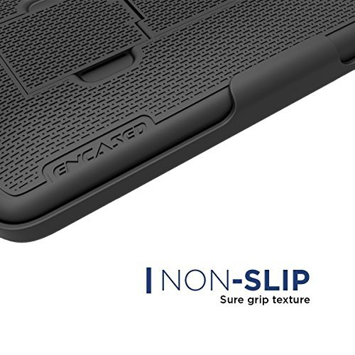 Encased DuraClip for iPhone 8 Plus Belt Clip Case, Thin Fit Holster Shell Combo Slim Cover with Rubberized Grip for Apple iPhone 8 Plus 5.5'' (Black) by Encased (Image #5)