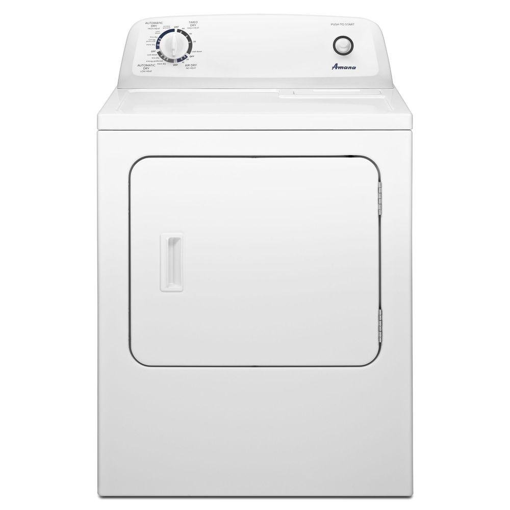 AMANA NED4655EW 6.5 cu. ft. Front Load Electric Dryer with 11 Drying Cycles, White by AMANA