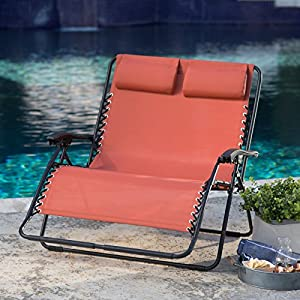 Coral Coast Zero Gravity Loveseat - Terra Cotta