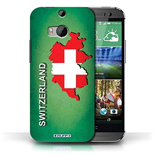 Kobalt® Imprimé Etui / Coque pour HTC One/1 M8 / Suisse/Swiss conception / Série Drapeau Pays