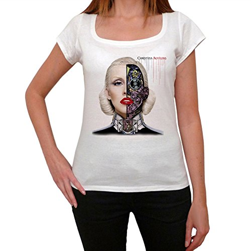 Christina Aguilera Women's T-shirt picture celebrity - White, M