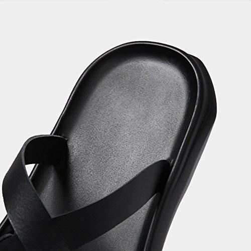 esterno cinturino Sandalo da Size Colore Nero Multicolor Uomo 44 Uomo estiva spiaggia alla Scarpe dimensioni Sandalo 39 39 caviglia Sandalo Pantofola Nero 1C1TIdqn