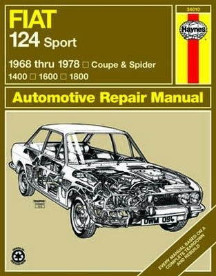 Haynes Repair Manual for Fiat 124 Sport Coupe & Spider (1968-1978)