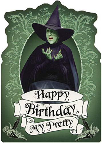 Paper House Wicked Witch Sparkling Green Die Cut Glitter Wizard of Oz Birthday Card for Her/Girls]()