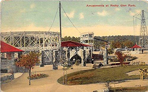 Postcard Amusements at Rocky Glen Park 1914 Missing Stamp