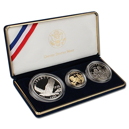 2008 Bald Eagle Coins (2008 US Bald Eagle 3-Coin Commemorative Set OGP)