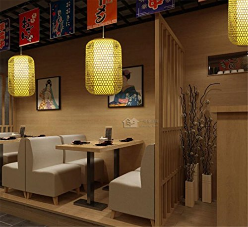 LUCKY CLOVER-A Ceiling Light Chandelier Pendant Light Nature Rattan Bamboo Woven Indoor Lighting,L26W 26H 45Cm,Double