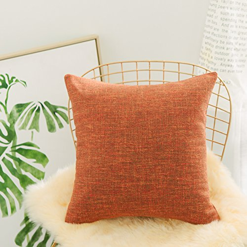 Home Brilliant Textured Euro Sham Pillowcase for Bed Floor Linen Chenille Blend Pillow Covers Large Cushion Cover for Holiday, 26