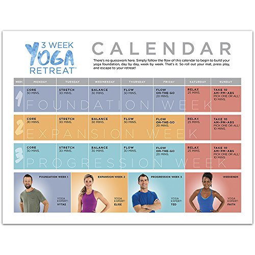 3 Week Yoga Retreat Workout Program Dvds Learn Yoga At