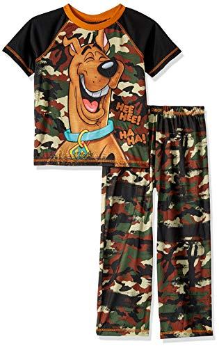 Scooby Doo Boys' Big 2 Piece Jersey Pajama Set, camo, Small ()