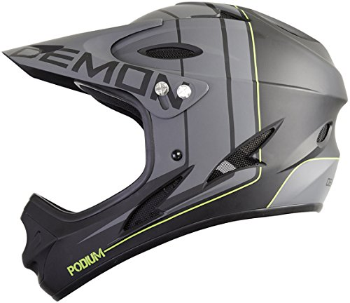 Helmet Face Full 661 (Demon Podium Full Face Mountain Bike Helmet (Black, L))