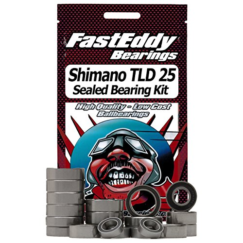 Tld Single (Shimano TLD 25 Single Speed Level Drag Fishing Reel Rubber Sealed Ball Bearing Kit for RC Cars)