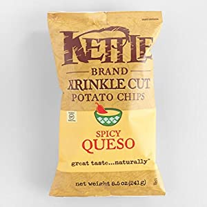 Kettle Foods Chip Potato Krinkle Spicy, 8.5 oz