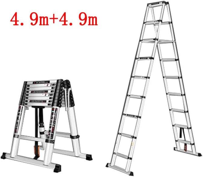GLJJQMY Escalera telescópica Escalera multifunción for Uso doméstico Escalera Plegable for Interiores Escalera de Doble Cara Ingeniería de aleación de Aluminio (Size : 4.9m+4.9m): Amazon.es: Hogar