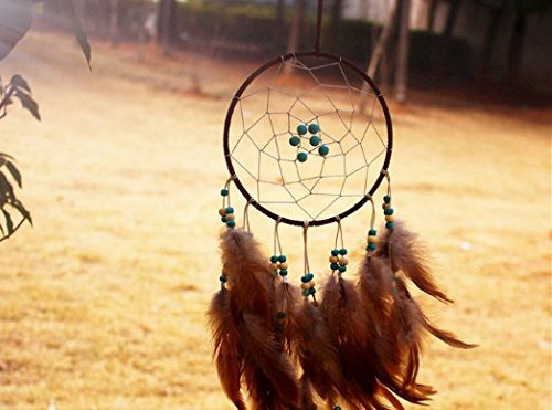 Kwan New fashion originality big Hot Brown Dreamcatcher Wind Chimes Indian Style Skull Feather Pendant dream Catcher Gift