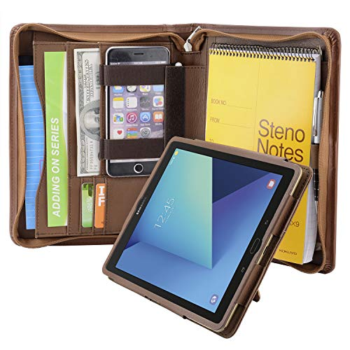 Zipper Padfolio Organizer Portfolio Removable