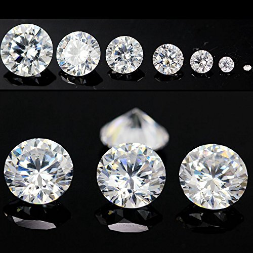 1000pcs AAAAA Grade White 0.8mm Cubic Zirconia Stone Round Cut Loose CZ Stone Synthetic Gems For Jewelry