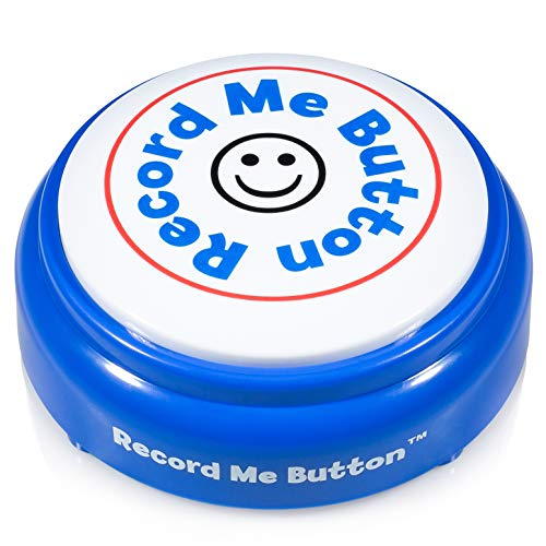 Record Me Button - Record Any Custom Audio with Built-in MIC, for Playback Anytime - Brilliant Blue]()