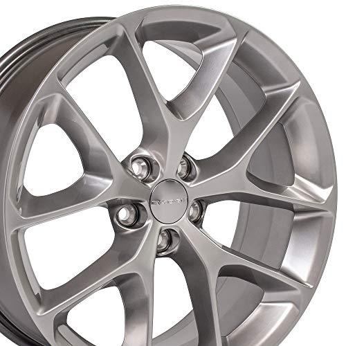 OE Wheels 20 Inch Fits Dodge Challenger Charger SRT8 Magnum Chrysler 300 SRT8 DG17 2019 Style Hyper Silver 20x8 Rim (20 Inch Silver Wheels)