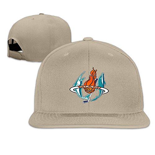 Custom Dance Costumes Florida (LnEir Custom Unisex-Adult Miami Sports Baseball Logo Mixed Flat Bill Baseball Cap Hats Natural)