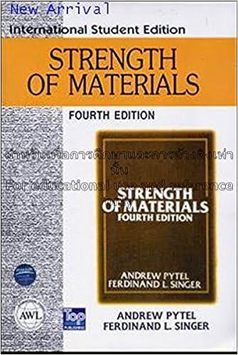 strength of materials andrew pytel ferdinand l singer