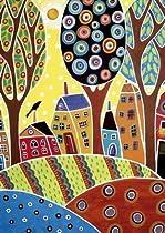 Houses Barn Landscape, Karla Gerard - Educa 500 Piece Puzzle by Educa