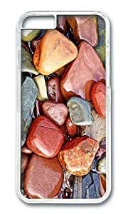 MOKSHOP Adorable Colored wet Stones Hard Case Protective Shell Cell Phone Cover For Apple Iphone 6 (4.7 Inch) - PC Transparent