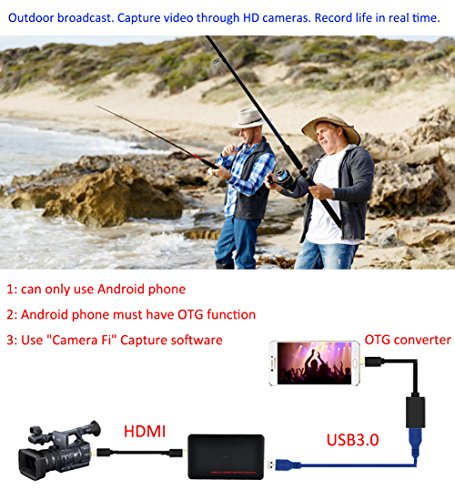 Y&H HDMI Game Capture Card USB3.0 1080P Game Recorder support Live Streaming,HD Video Capture Card for PS3 PS4 Xbox One 360 Wii U and Nintendo Switch,Compatible with Windows Linux Os X System by Y&H (Image #6)