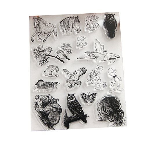 Hijing Clear Stamp Silicone Seal For Scrapbook Diary Album Photo T1045 Various Animals