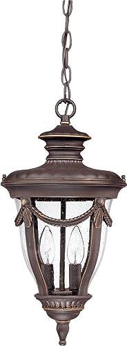Nuvo Lighting 60 2048 Two Light Hanging Lantern, Bronze Dark
